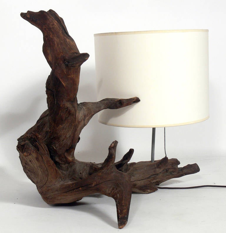 of ideas driftwood wallpaper design floor presenting lamp artistic for with lamps table lighting