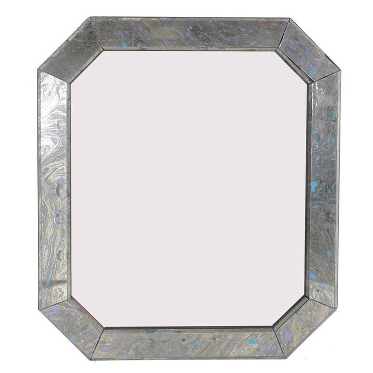 Octagonal Marbleized Mirror