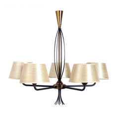 Modern French Chandelier in the Manner of Jean Royere
