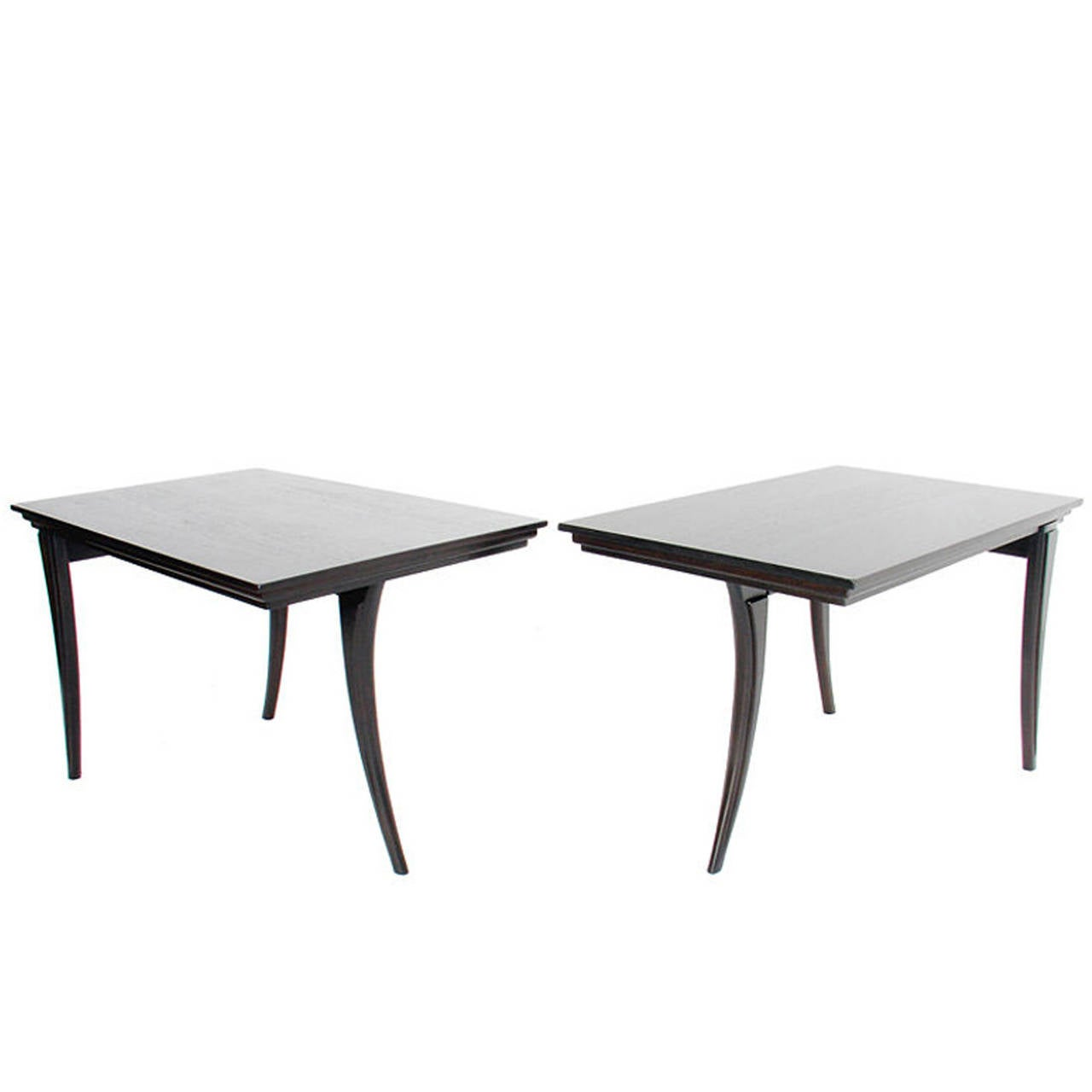 Pair of Elegant Klismos Leg Tables For Sale
