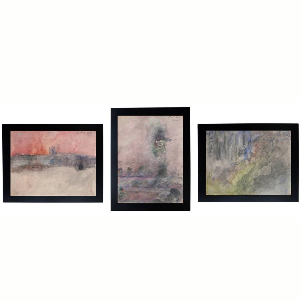 Selection of New York Landscape Watercolors by Jochen Michaelis