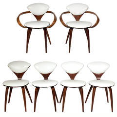 Set of Six Plycraft Dining Chairs Designed by Norman Cherner