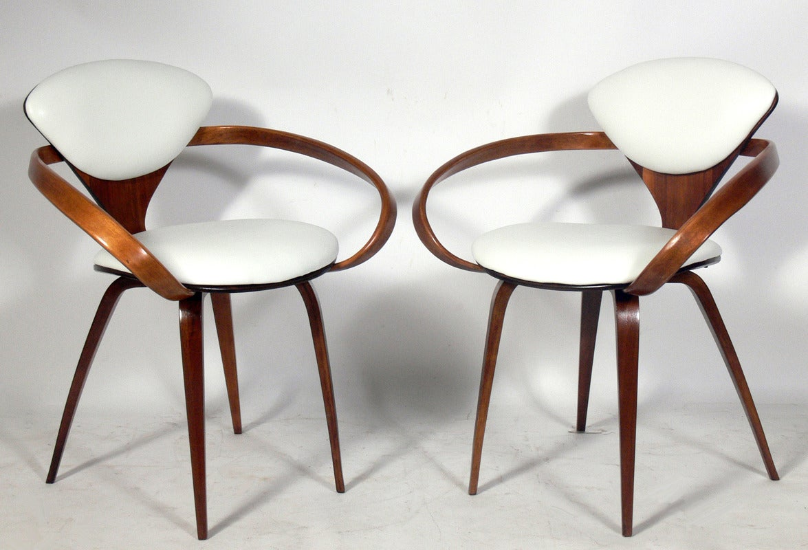 set of six plycraft dining chairs designed by norman cherner 2