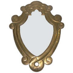 Sculptural Brass Mirror by Sergio Bustamante