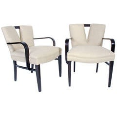 Pair of V Back Armchairs by Paul Frankl