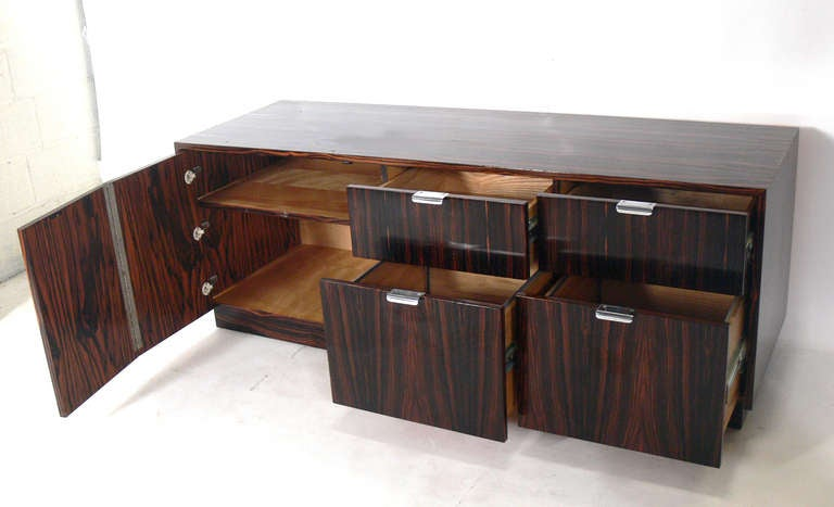 Custom Macassar Ebony Wood Credenza At 1stdibs