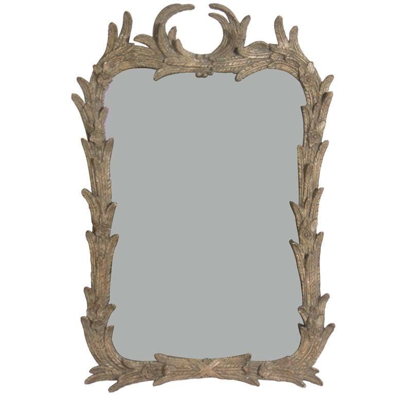 Elegant 1940 39 s floriform mirror for sale at 1stdibs for Elegant mirrors