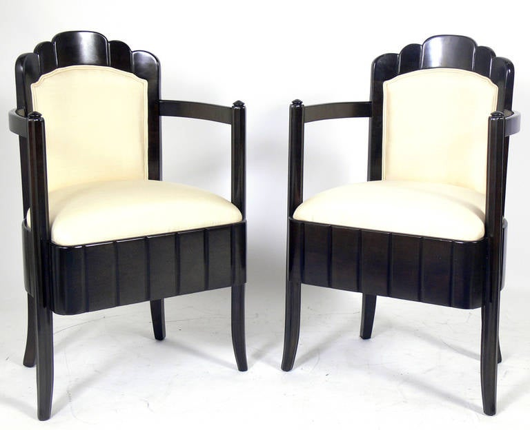Pair of French Art Deco Armchairs by Pierre Patout for the Ile de France 2
