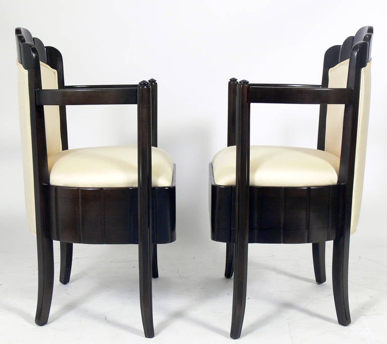 Pair of French Art Deco Armchairs by Pierre Patout for the Ile de France 3