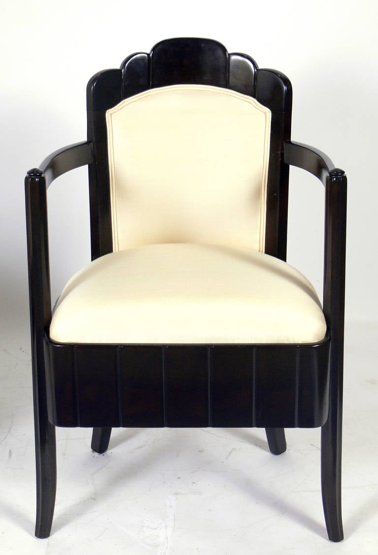 Pair of French Art Deco Armchairs by Pierre Patout for the Ile de France 4