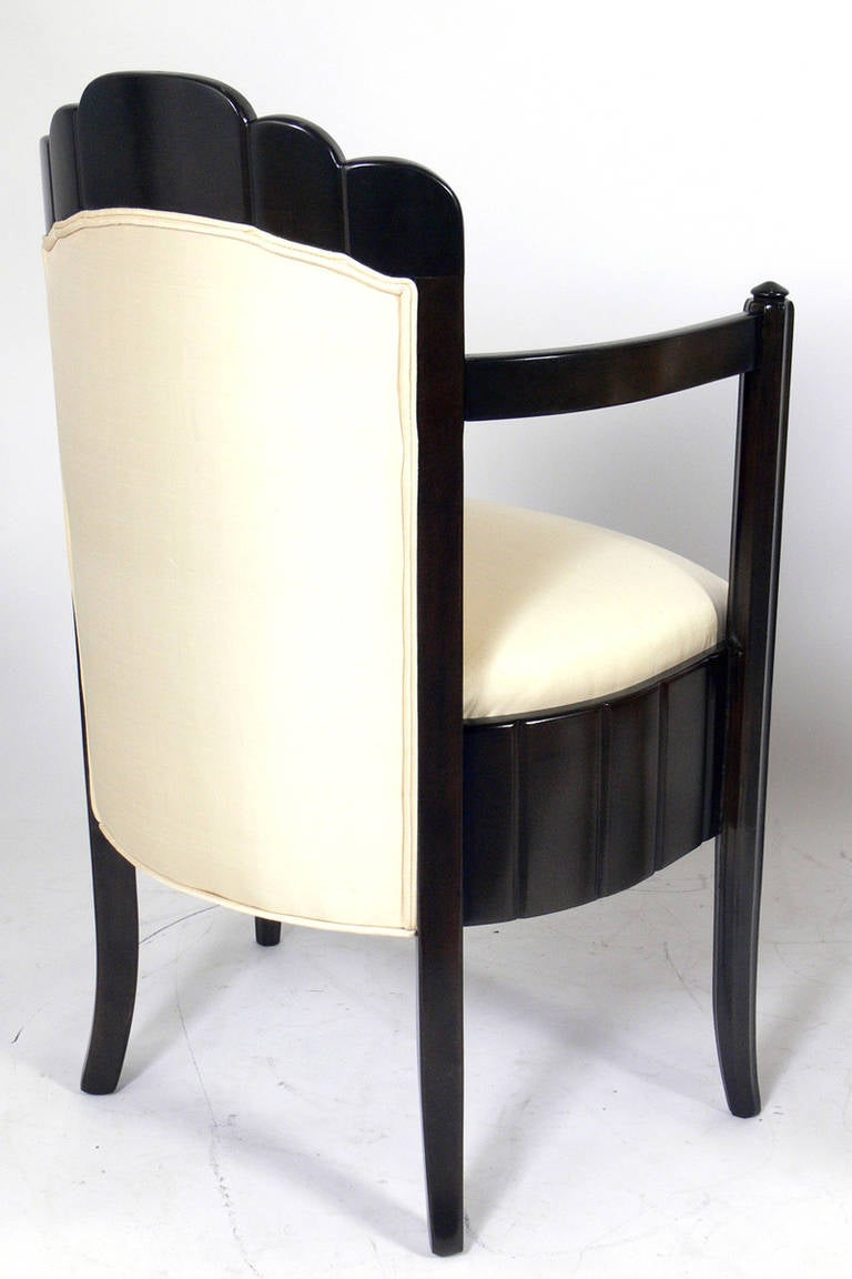 Pair of French Art Deco Armchairs by Pierre Patout for the Ile de France 5