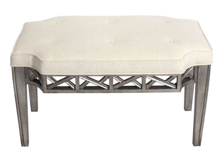Silver Leaf Bench in the manner of James Mont 2