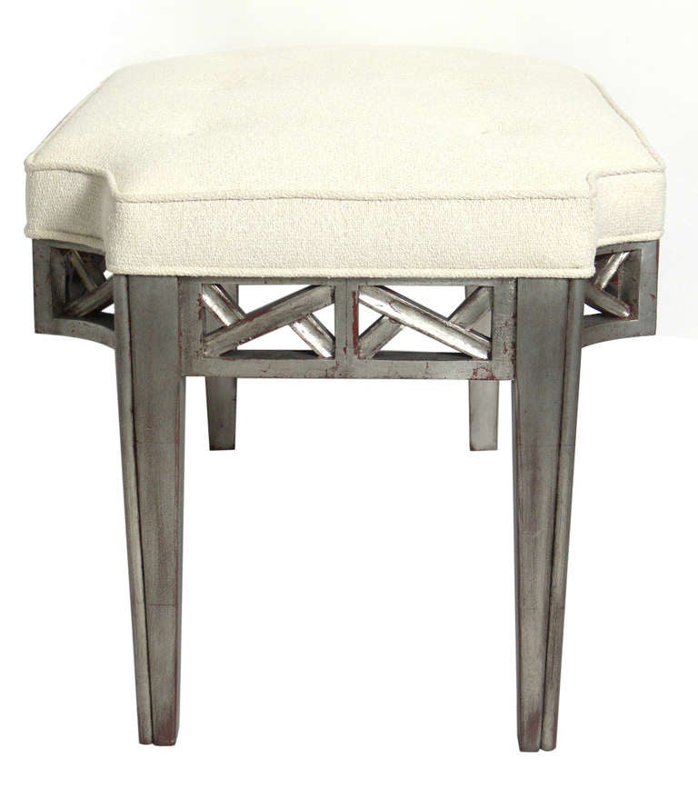 Silver Leaf Bench in the manner of James Mont 3