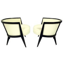 Pair of Curvaceous Modern Lounge Chairs by Harvey Probber