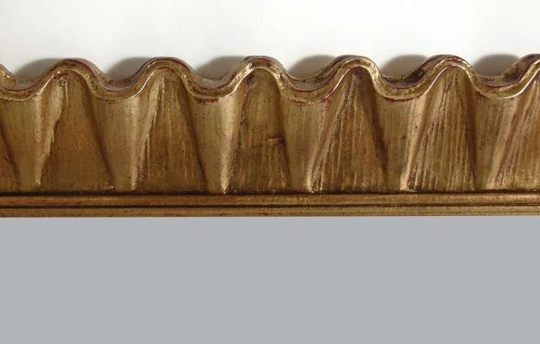 Gold Leaf Scalloped Mirror At 1stdibs