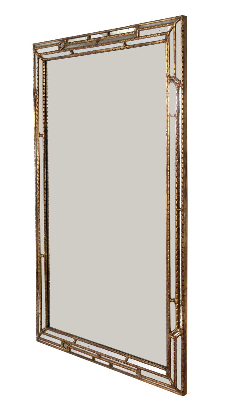 Large scale italian gilt mirror at 1stdibs for What is a gilt mirror