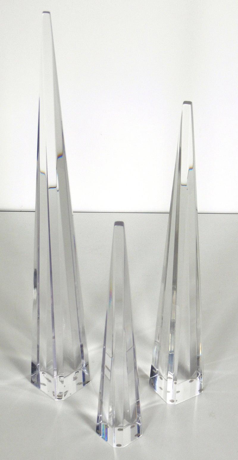 Crystal Group of Obelisks For Sale