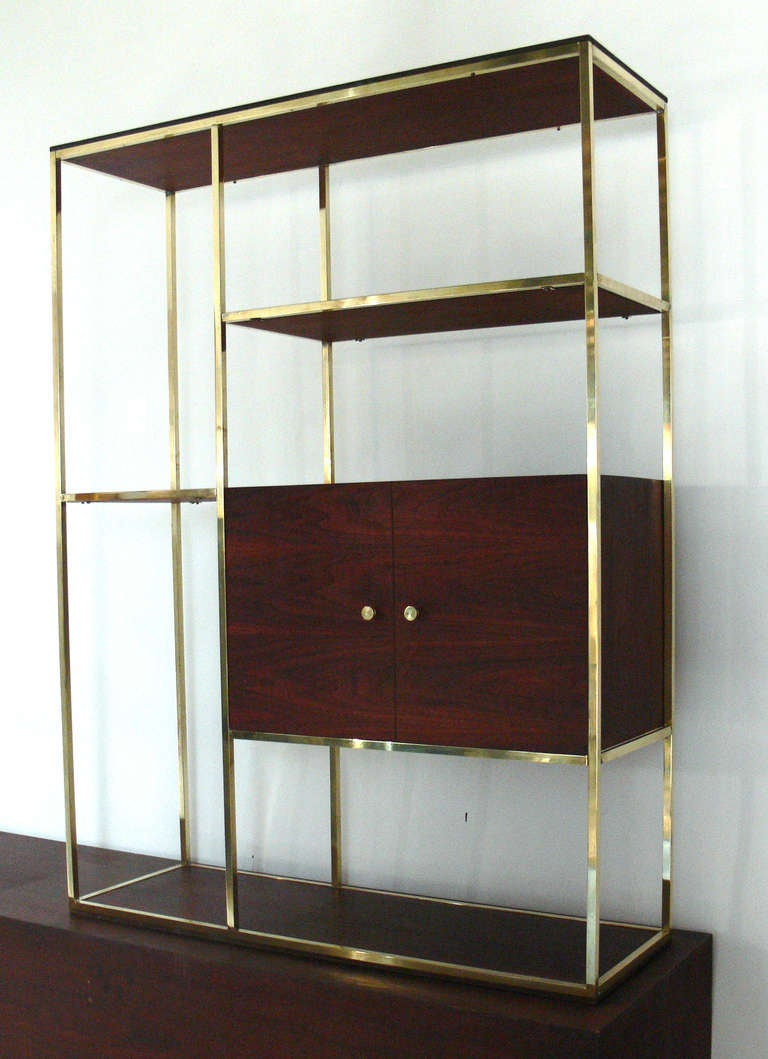 modern etagere and credenza in the manner of paul mccobb at 1stdibs. Black Bedroom Furniture Sets. Home Design Ideas