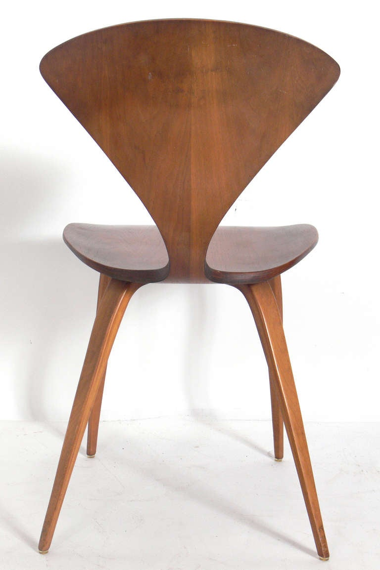Set Of 12 Plycraft Dining Chairs Designed By Norman