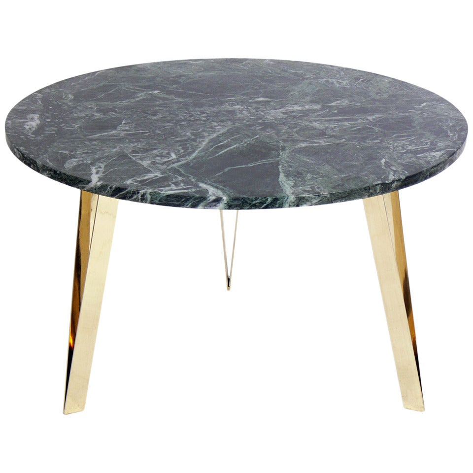 Italian Marble Coffee Or Cocktail Table For Sale At 1stdibs: Italian Marble And Brass Coffee Table In The Manner Of Gio
