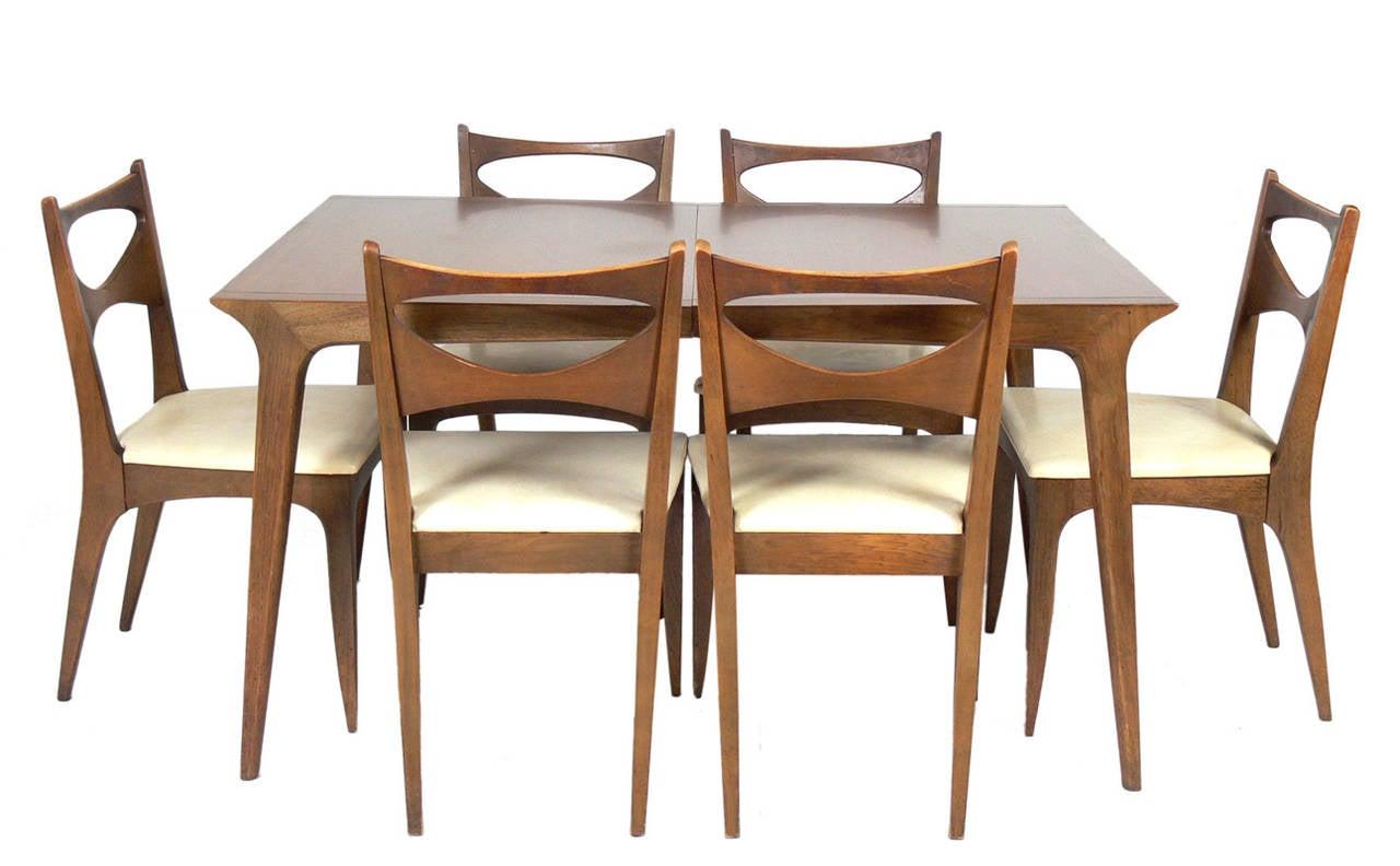 mid century modern dining table by john van koert for drexel image 6