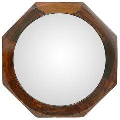 Danish Modern Rosewood Octagonal Mirror
