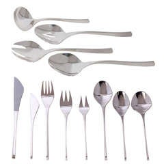 "Ronald Pearson ""Vision"" Modernist Sterling Silver Flatware - Large Set"