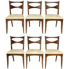 Set of Six Mid Century Modern Dining Chairs by John Van Koert for Drexel