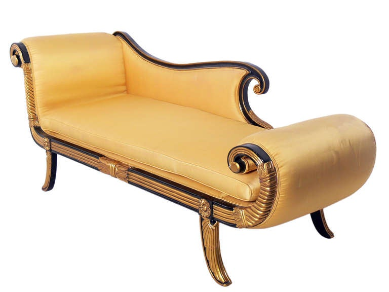 Glamorous hollywood regency chaise longue or daybed at 1stdibs for Chaise longue daybed