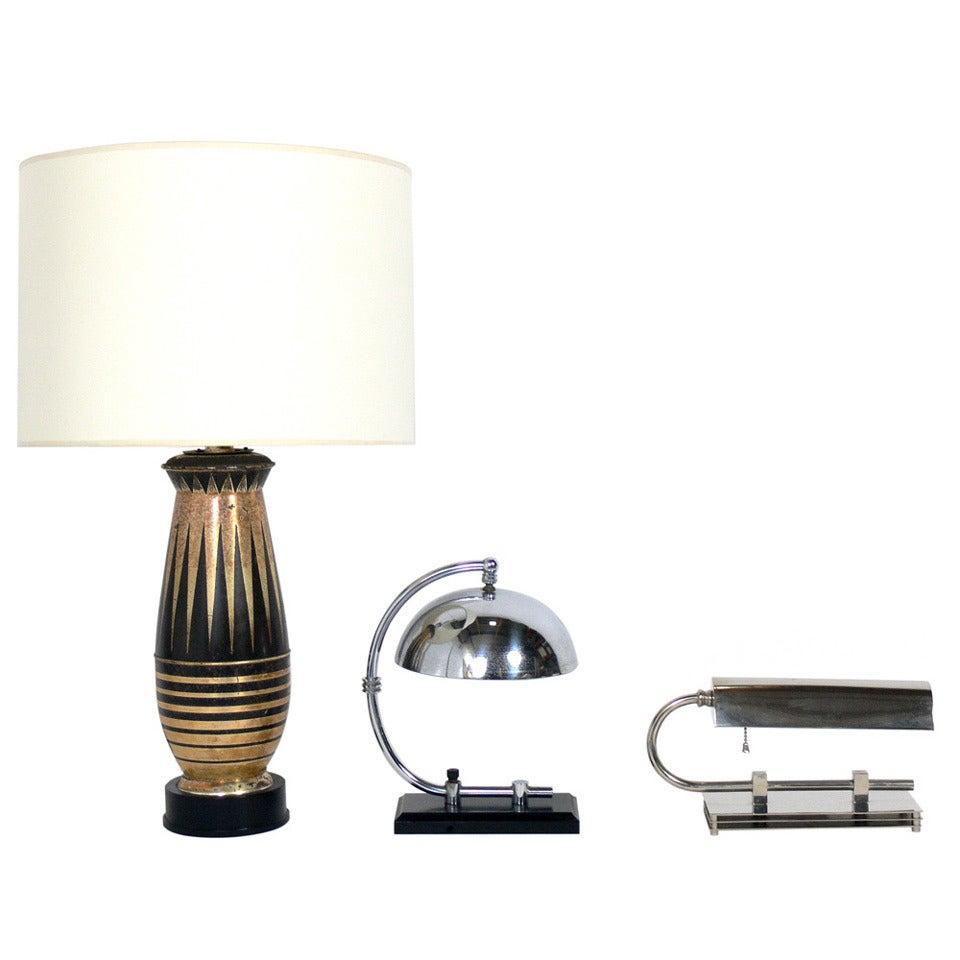 selection of art deco table lamps for sale at 1stdibs. Black Bedroom Furniture Sets. Home Design Ideas