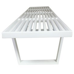 Large George Nelson Bench in White Lacquer