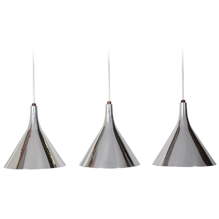 Modern nickel plated pendant light fixtures at 1stdibs