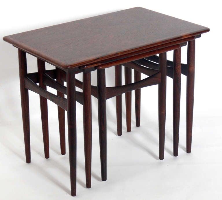 Danish Modern Rosewood Nesting Tables At 1stdibs
