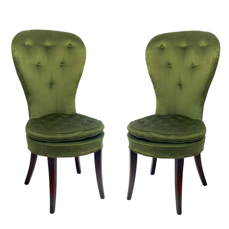 Pair of 1940's Balloon Back Chairs