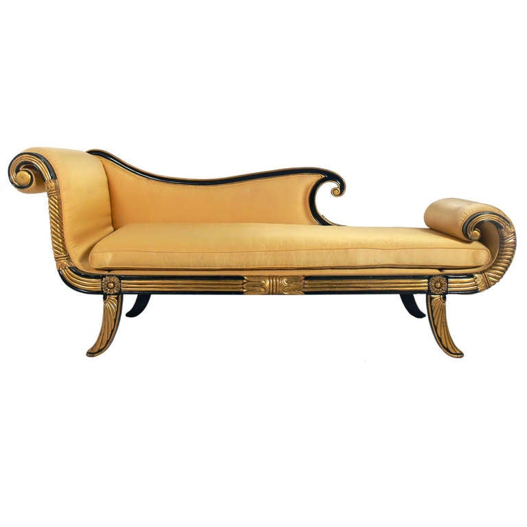 Glamorous hollywood regency chaise longue or daybed at 1stdibs for Chaise longue roche bobois