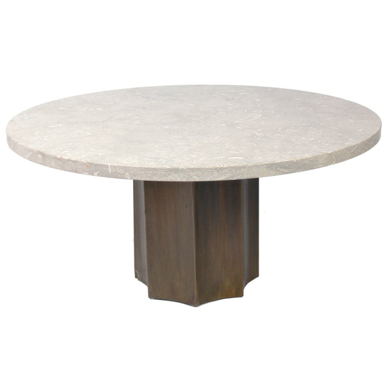 Modern Marble And Brass Coffee Table At 1stdibs