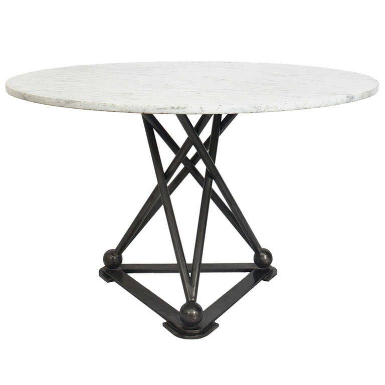 Modernist Gun Metal Table Base Center Table Game Table  : 1005834l from www.1stdibs.com size 768 x 768 jpeg 26kB