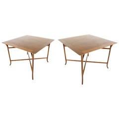 Pair of Large Side Tables Designed by T.H. Robsjohn-Gibbings
