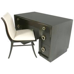 Elegant Desk and Chair designed by T.H. Robsjohn-Gibbings