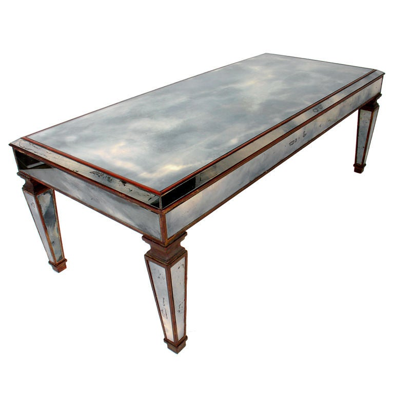 Vintage 1940 39 S Mirrored Coffee Table Wonderful Patina