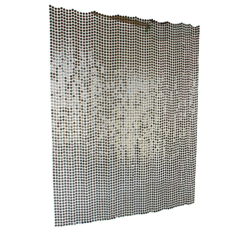 Paco rabanne space curtain screen room divider curtains - Plastic room divider screen ...