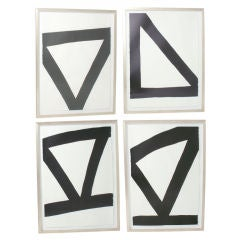Group of Abstract Black & White Paintings after Franz Kline