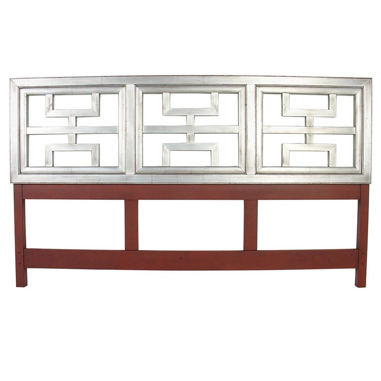 Silver Leaf Asian Form Head Board At 1stdibs
