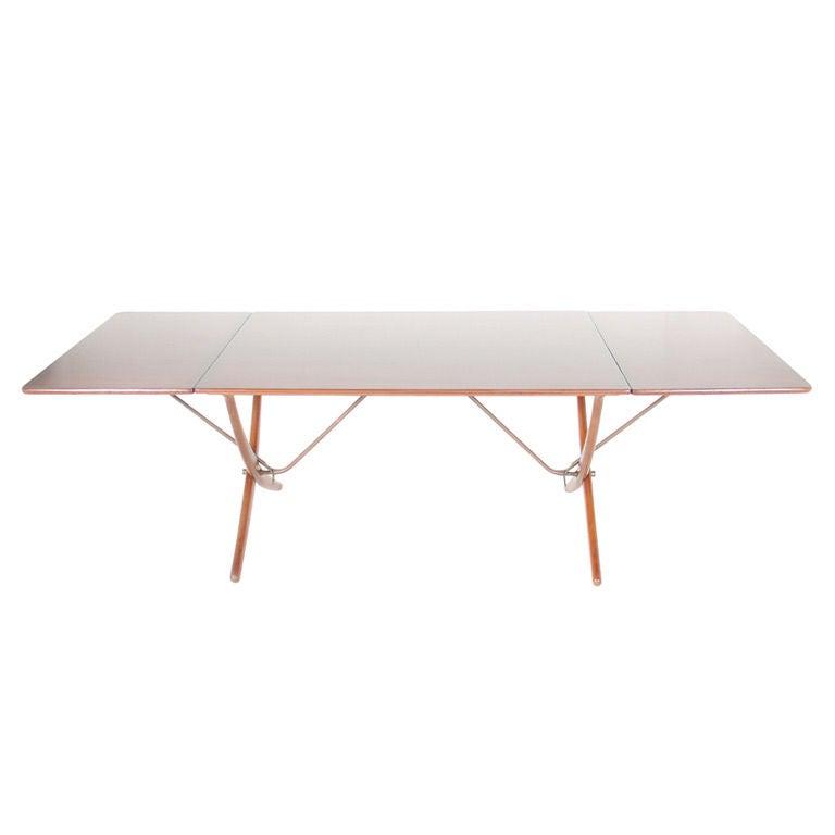 Hans Wegner Drop Leaf Dining Table At 1stdibs
