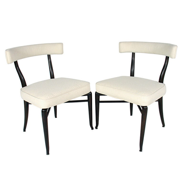 Pair of Curvaceous Chairs by T.H. Robsjohn Gibbings