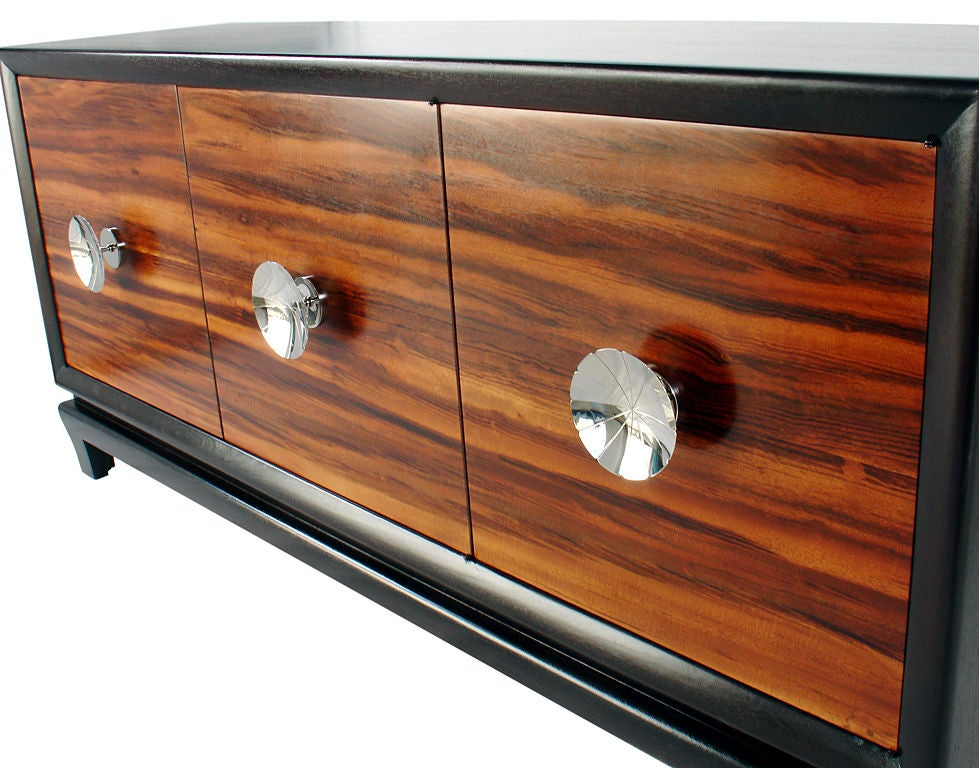 Elegant 1940 39 s credenza with nickel plated hardware at 1stdibs for 1940 door hardware