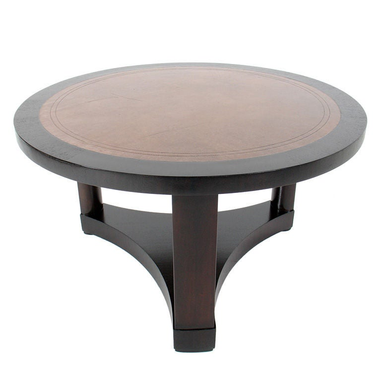 this leather top coffee table by edward wormley for dunbar is no
