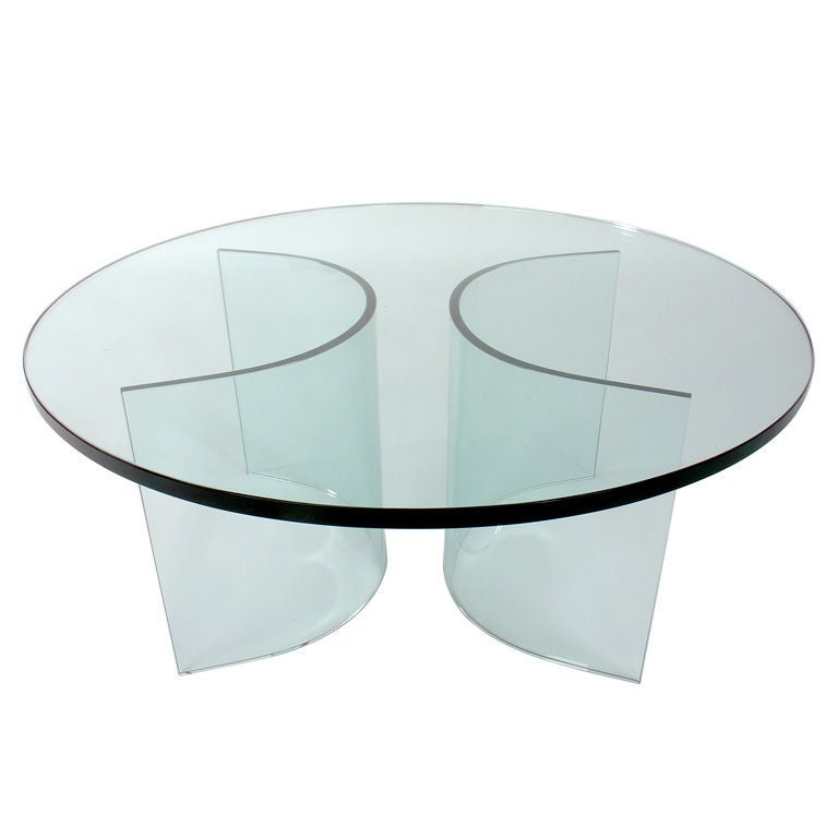 Sculptural Glass Coffee Table Base At 1stdibs