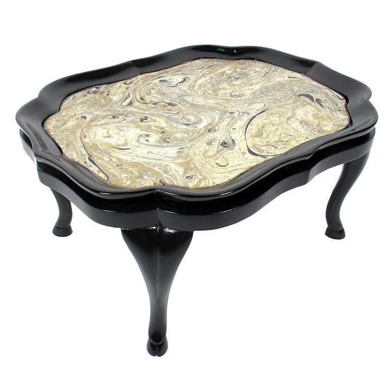 Elegant 1940 39 S Coffee Table With Incredible Original Glass Top At 1stdibs