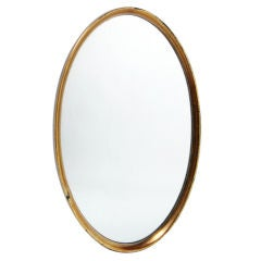 Modernist Oval Gold Leaf Mirror